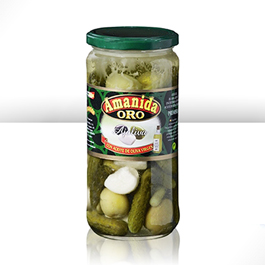 Assorted pickles and olives